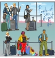 People at Airport - part 2 vector image vector image