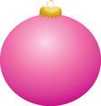 Pink Ball Ornament vector image vector image