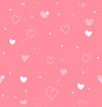 pink seamless pattern valentines day with white vector image vector image