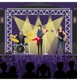 Pop group concert vector image vector image