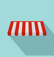 red white outdoor street tent icon flat style vector image