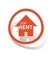 Rental house sign sticker orange vector image vector image