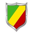 Republic of the Congo flag button vector image vector image