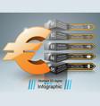 road infographic euro money icon vector image vector image