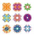 round pattern set vector image