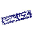 scratched national capital framed rounded vector image vector image