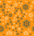 seamless pattern round shapes background vector image