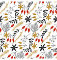 seamless pattern with traditional vector image vector image
