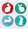 set cartoon icon rabbit design isolated vector image vector image