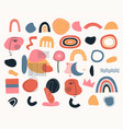 set geometric shapes various shapes vector image vector image