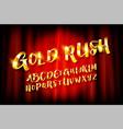 set golden alphabet letters vector image