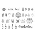 Simple set of beer related icons for your design vector image vector image