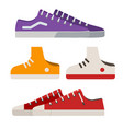 sneakers and gumshoes vector image vector image