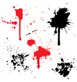 splats and drips vector image vector image