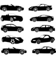 sport cars silhouettes collection vector image vector image