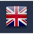 Square icon with flag of the UK vector image vector image