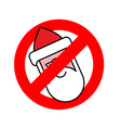 Stop Santa Claus Ban for Christmas Ban for Santa vector image vector image