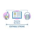 stunning bar menu concept icon alcohol drink map