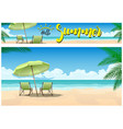 summer paradise on beach vector image vector image