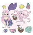 temptress mermaid princess cartoon vector image