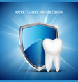 tooth protection dental concept stomatology vector image vector image