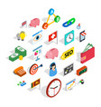 tycoon icons set isometric style vector image vector image