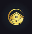 water house icon gold logo vector image