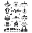 wine labels and logos vector image vector image
