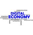 word cloud - digital economy vector image vector image