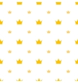Big and small gold crown icons on white background vector image