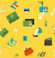 business and finance seamless pattern vector image
