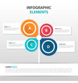 abstract tree business infographics elements vector image