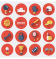 Sport equipmentsFlat icons vector image