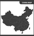 the detailed map of the china with regions vector image