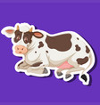 a simple cow character vector image vector image