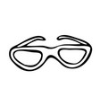 abstract grunge doodle drawing of a sunglasses vector image