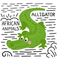 Alligator on a white background isolated vector image vector image
