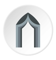 Arch tent icon flat style vector image vector image