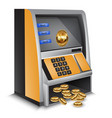 atm bitcoins cash machine vector image vector image