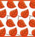 autumn leaf foliage flora decoration seamless vector image