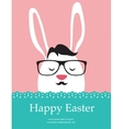 Background and greeting card with hipster Easter vector image vector image