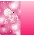 Background with stars and Christmas balls EPS 8 vector image