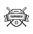 Baseball summer sport tournament logo vector image vector image
