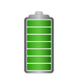 battery symbol with full charge vector image