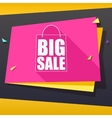 Big sale origami banner vector image vector image