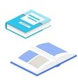 Book 3d isolated School book vector image vector image