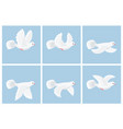 cartoon flying dove animation sprite vector image vector image