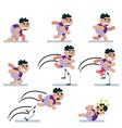 charactersgameflatrunning manicon mancartoon vector image