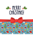 Christmas greeting card design template with vector image vector image