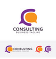consulting - letter c logo design vector image vector image